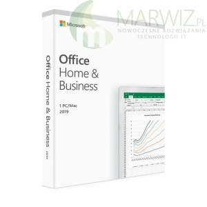 Nowy! Oryginalny! Microsoft Office 2019 Home and Business WIN/MAC BOX All language  - Pudełko!