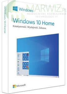 MICROSOFT WINDOWS HOME 10 32/64BIT BOX USB PL 1PC LIC. DOŻ. (KW9-00497)