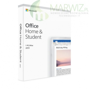 Nowy! Oryginalny! Microsoft Office 2019 Home and Student WIN/MAC BOX All Language